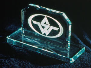 Beveled Sculpture with Company Logo