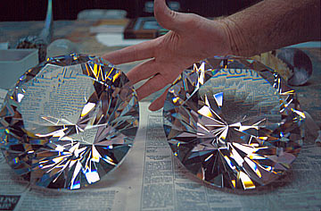Large Faceted Diamond Crystal