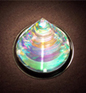 Circular Dichroic Glass Sculpture
